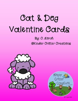 Valentine Cards - Cat and Dog Theme