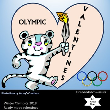 Valentine Cards Featuring Olympic Winter Sports 2018 South Korea Part 1