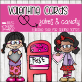 Valentine Cards For Students or Kids...Jokes & Candy Themed (Editable)