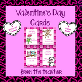 Valentine Cards From Teacher - (4 Themes / 4 Styles Each)