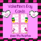 Valentine Cards From Teacher - ( 4 Themes / 4 Styles Each )