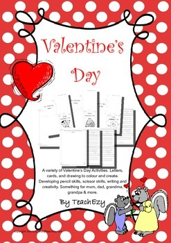 Valentine Cards & Letters B&W