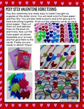 Valentine Cards- Pixy Stix Cupid Arrows