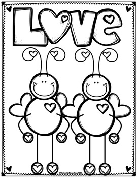 Valentine Cards and Coloring Pages