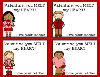 Valentine Cards for Melted Crayon Hearts