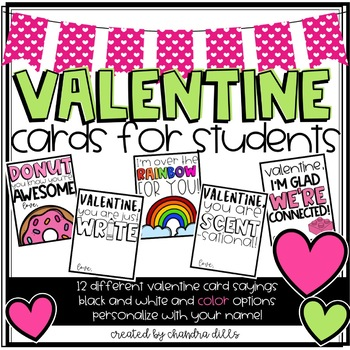 Valentine Cards for Students and Co-Workers