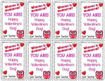 Valentine Cards from Teacher {FREE}