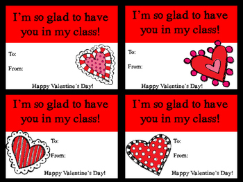 Valentine Cards for Teachers