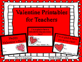 Valentine Cards for Teachers