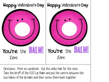 Valentine Cards for Teachers- You're the Balm