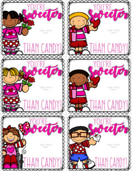 Valentine Cards from Teacher to Students - Just Add Candy!