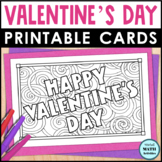 Valentine Cards to Color | Valentine's Day Card Craft