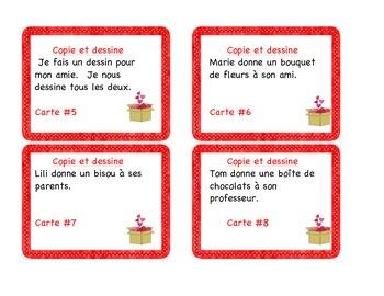Valentine- Cartes à tâches : compréhension à la lecture: la Saint-Valentin