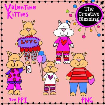 Valentine Cat Clip Art
