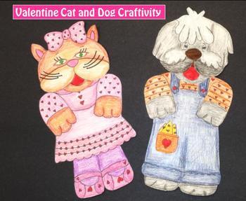 Valentine Cat and Dog Craftivity