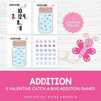 Valentine Catch A Bug Addition Games