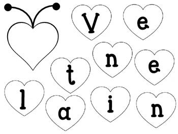 Valentine Caterpillar Craftivity