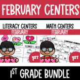 Valentine's Day Math and Literacy Centers Bundle