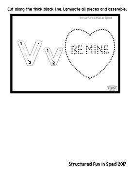 Valentine Centers Tracing Cards for Preschool, Pre-k, Special Needs