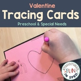 Valentine Centers Tracing Cards for Preschool, Pre-k, Spec
