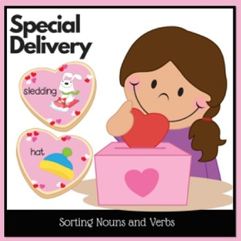 Valentine Center for Sorting Nouns and Verbs