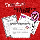 Valentine Math Centers - Freebie