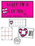 Valentine Centers- Ten Frames, Tally Marks, Tic Tac Toe