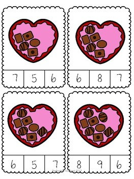 Valentine Chocolate Count and Clip {Dollar Deal}