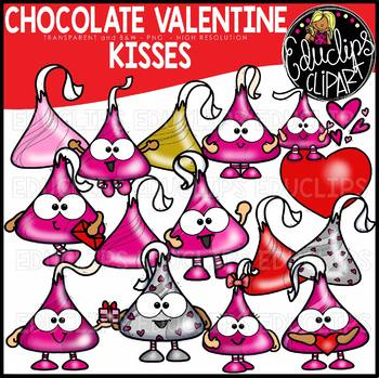 Valentine Chocolate Kisses Clip Art Bundle {Educlips Clipart}