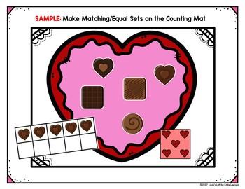 Valentine Preschool Counting Activities Chocolates Tpt