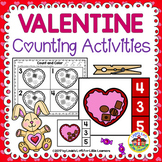 Valentine Preschool Counting Activities: Chocolates