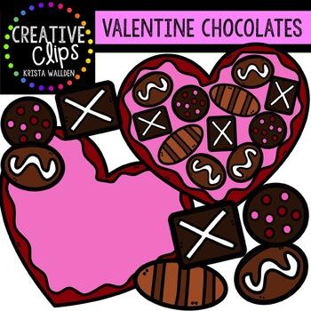 Valentine Clipart: Chocolates {Creative Clips Clipart}