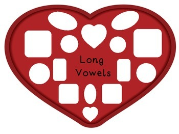Valentine Chocolates Long and Short Vowel Sort
