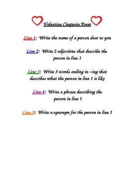 Valentine Cinquain Poem