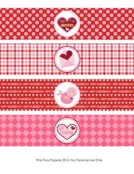 Valentine Classroom Party Water Bottle Wrappers