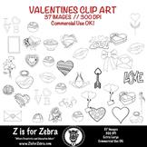 Valentine Clip Art 37 images - Commerical OK! ZisforZebra