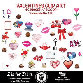 Valentine Clip Art 40 images - Commerical OK! ZisforZebra