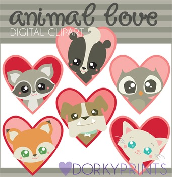 Valentine Clip Art Animal Love