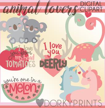 Valentine Clip Art Animal Lovers