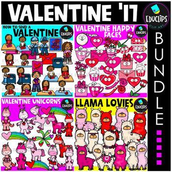 Valentine Clip Art Big Bundle {Educlips Clipart}