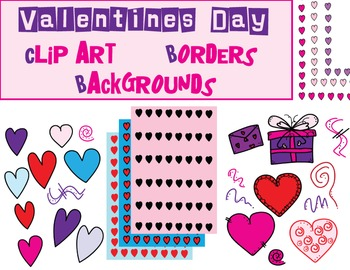 Valentine Clip Art, Borders, and Backgrounds