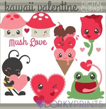 Valentine Clip Art - Kawaii Valentines Clipart