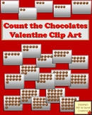 Valentine Clip Art Numbers and Counting ~ Count the Chocolates PNG CLIPS