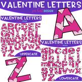 Alphabet Letters Clip Art- Valentine Letters {jen hart Clip Art)