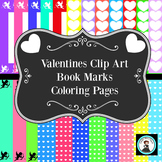 Valentine Clip Art and Coloring Pages