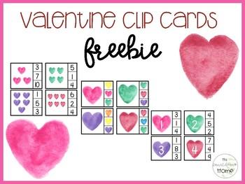 Valentine Clip Cards: FREEBIE