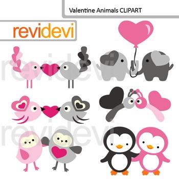 Valentine Clip art / Valentine Animals