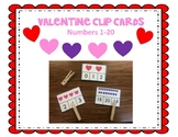 Valentine Clip cards 1-20