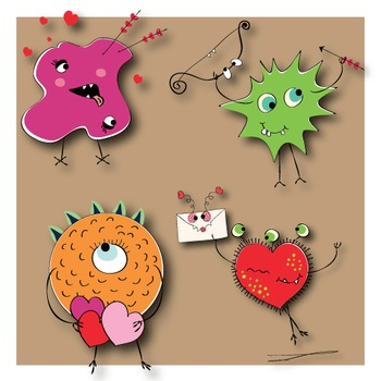 Valentine's Day Clipart - Monsters In Love