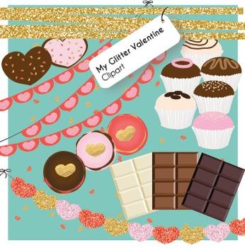 Valentine's Day Clipart - My Glitter Valentine